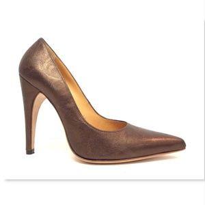 a079f03c50 Casadei Shoes   Bronze Metallic Leather Pumps 85   Poshmark